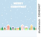 christmas greeting card merry... | Shutterstock .eps vector #530483407