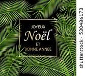 joyeux noel et bonne annee  ... | Shutterstock . vector #530486173