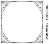 square black ornate frame ...   Shutterstock .eps vector #530487583