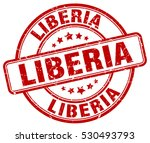 liberia. stamp. red round... | Shutterstock .eps vector #530493793