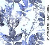 art vintage watercolor floral...   Shutterstock . vector #530498887