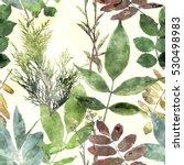 art vintage watercolor floral...   Shutterstock . vector #530498983