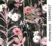 art vintage watercolor floral...   Shutterstock . vector #530499217