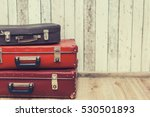 three old suitcases in the... | Shutterstock . vector #530501893