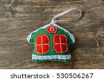 christmas decorations on wooden ...   Shutterstock . vector #530506267