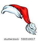 cartoon santa hat isolated on... | Shutterstock .eps vector #530510017