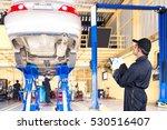 auto mechanic recording a... | Shutterstock . vector #530516407