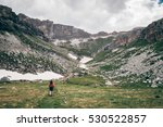 girl hiking at alps | Shutterstock . vector #530522857