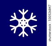 snowflake icon  flat style...