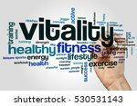 Stock photo vitality word cloud concept 530531143