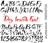 hand drawn font made by dry... | Shutterstock .eps vector #530533723