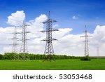 power transmission line.   Shutterstock . vector #53053468