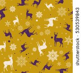 christmas and new year seamless ... | Shutterstock .eps vector #530539843