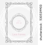 decorative vector frames and... | Shutterstock .eps vector #530539903