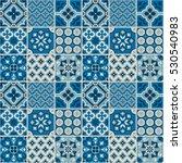 decorative tile pattern design. ... | Shutterstock .eps vector #530540983