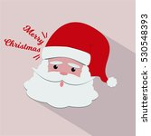 santa claus face merry christmas | Shutterstock .eps vector #530548393
