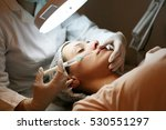 woman having botox treatment in ... | Shutterstock . vector #530551297