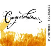 congratulations with watercolor ... | Shutterstock .eps vector #530553883