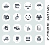 shipping icons | Shutterstock .eps vector #530554297