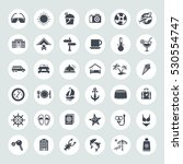 travel and vacation icons set | Shutterstock .eps vector #530554747