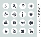 christmas icons | Shutterstock .eps vector #530556613