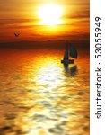 sailing towards the sun | Shutterstock . vector #53055949