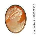 antique cameo pin isolated on a ... | Shutterstock . vector #530562913
