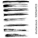 black ink vector brush strokes. ... | Shutterstock .eps vector #530564923