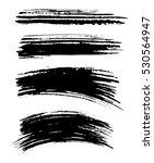 black ink vector brush strokes. ... | Shutterstock .eps vector #530564947