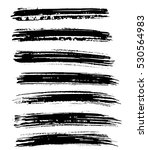 black ink vector brush strokes. ... | Shutterstock .eps vector #530564983