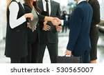 close up of business partners... | Shutterstock . vector #530565007