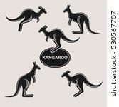 kangaroo set. vector | Shutterstock .eps vector #530567707