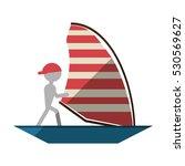 man sailing ship boat travel... | Shutterstock .eps vector #530569627