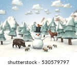 cartoon style low poly 3d... | Shutterstock . vector #530579797