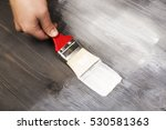 hand painting white color on... | Shutterstock . vector #530581363