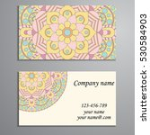 business card. vintage... | Shutterstock .eps vector #530584903