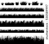 grass borders silhouette set on ... | Shutterstock .eps vector #530589997