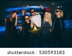 group of friends at club having ... | Shutterstock . vector #530593183
