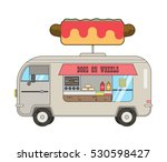 dogs in wheels.hot dog car.big... | Shutterstock .eps vector #530598427