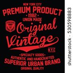 vintage denim  superior urban... | Shutterstock .eps vector #530598883