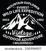 wild life expedition  outdoor... | Shutterstock .eps vector #530598907