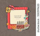photo frame on vintage... | Shutterstock .eps vector #530599633