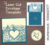 lasercut vector wedding... | Shutterstock .eps vector #530602477