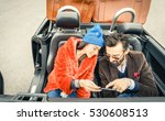 happy couple having fun with... | Shutterstock . vector #530608513