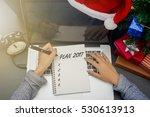 business woman hand writing... | Shutterstock . vector #530613913