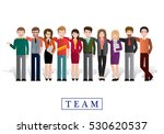 group of creative people ... | Shutterstock .eps vector #530620537