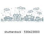 winter cityscape. vector...