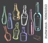 chalk drawn stylized contours... | Shutterstock .eps vector #530631013