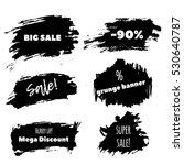 grunge artistic brush strokes ...   Shutterstock .eps vector #530640787
