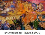 texture of oil painting | Shutterstock . vector #530651977